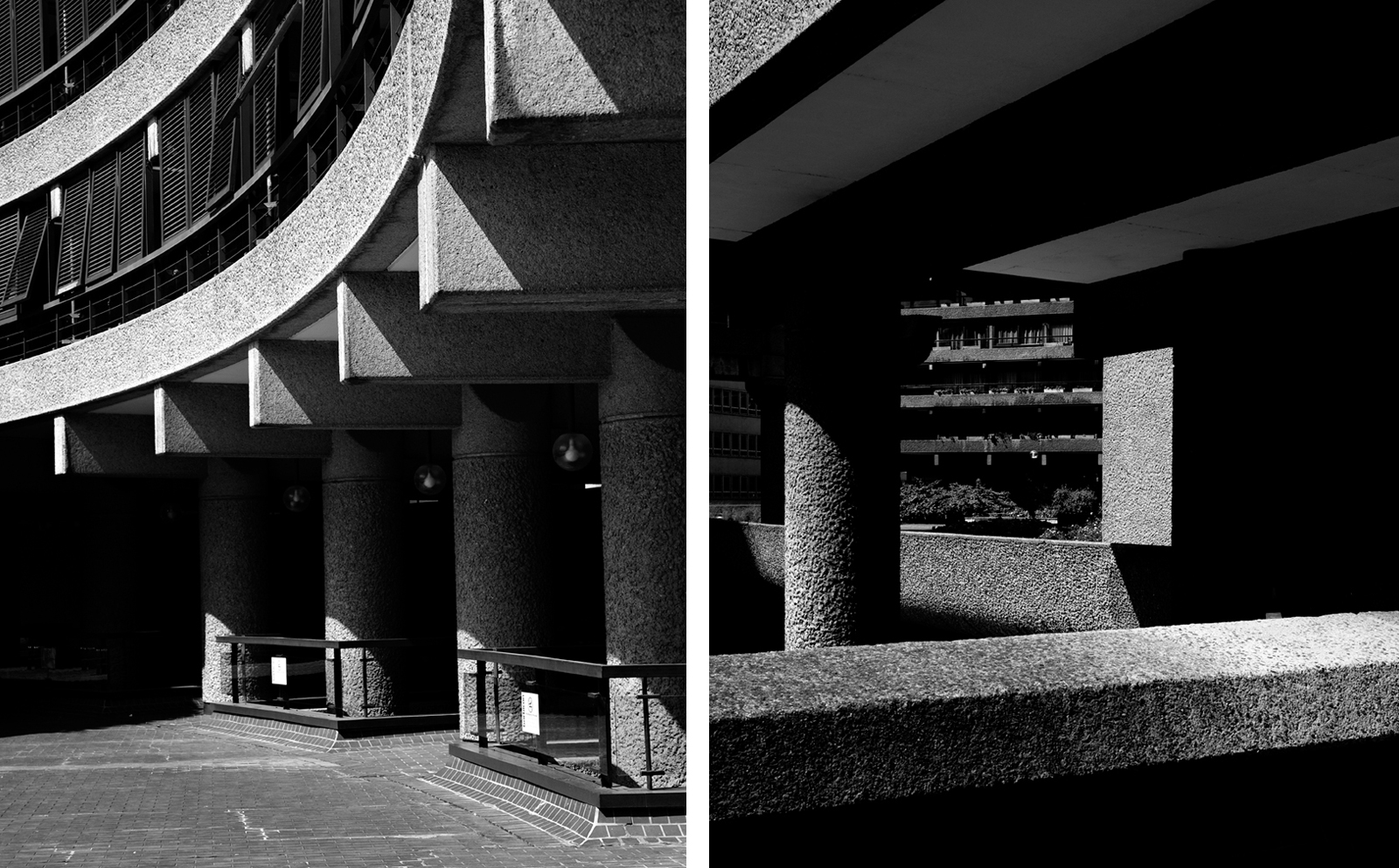 The Barbican estate diptych, Robert Low