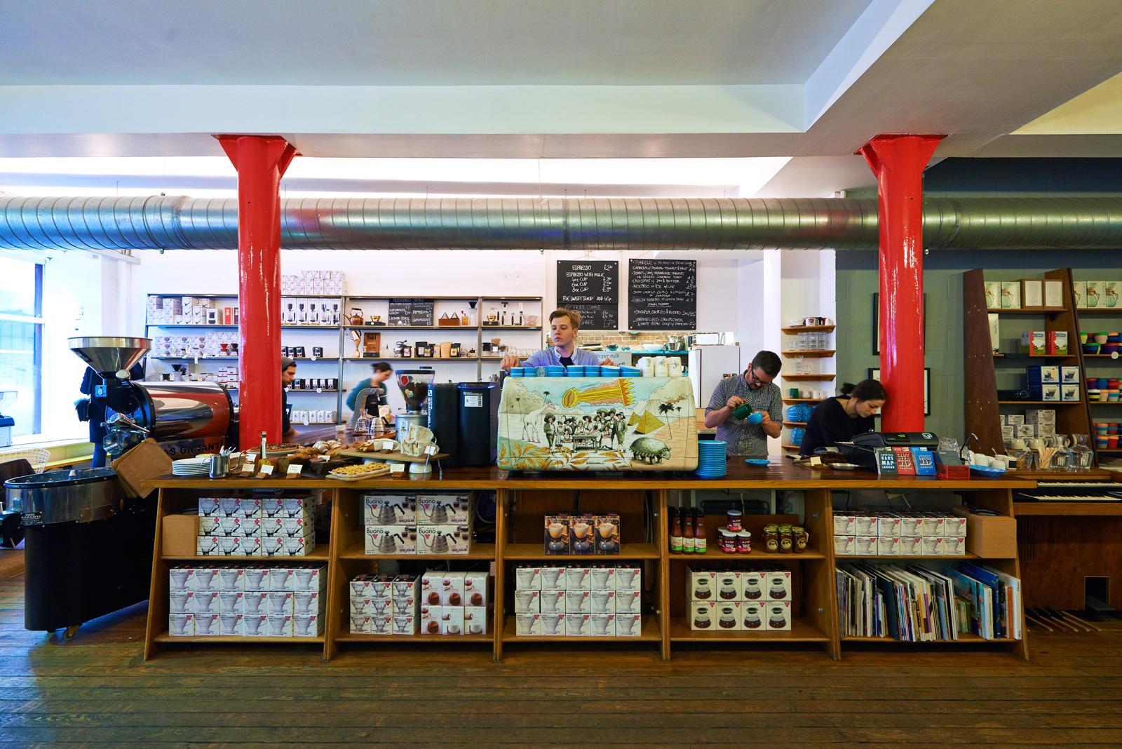 Inside Prufrock coffee shop