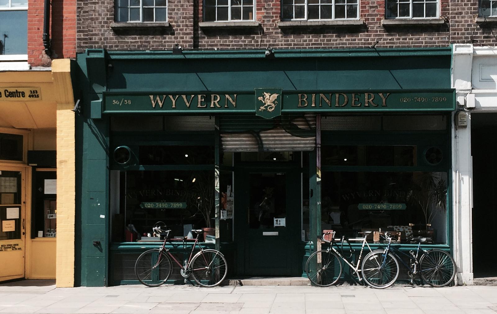 the Wyvern Bindery, Clerkenwell