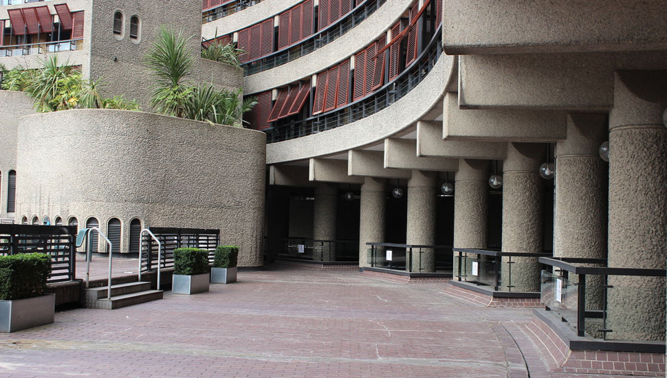 The Barbican Frobisher Staircases from Conservatory