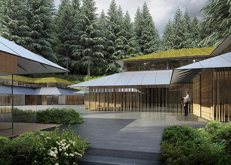 Kengo kuma designs new cultural village for portland s for Japanese garden architecture