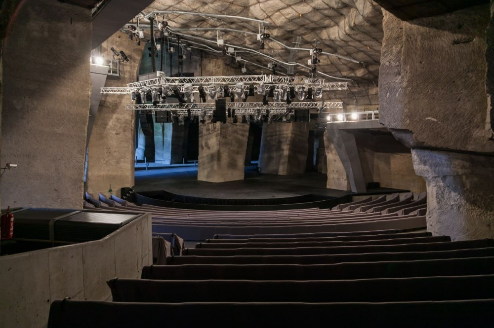 interior of quarry theatre, Hungary