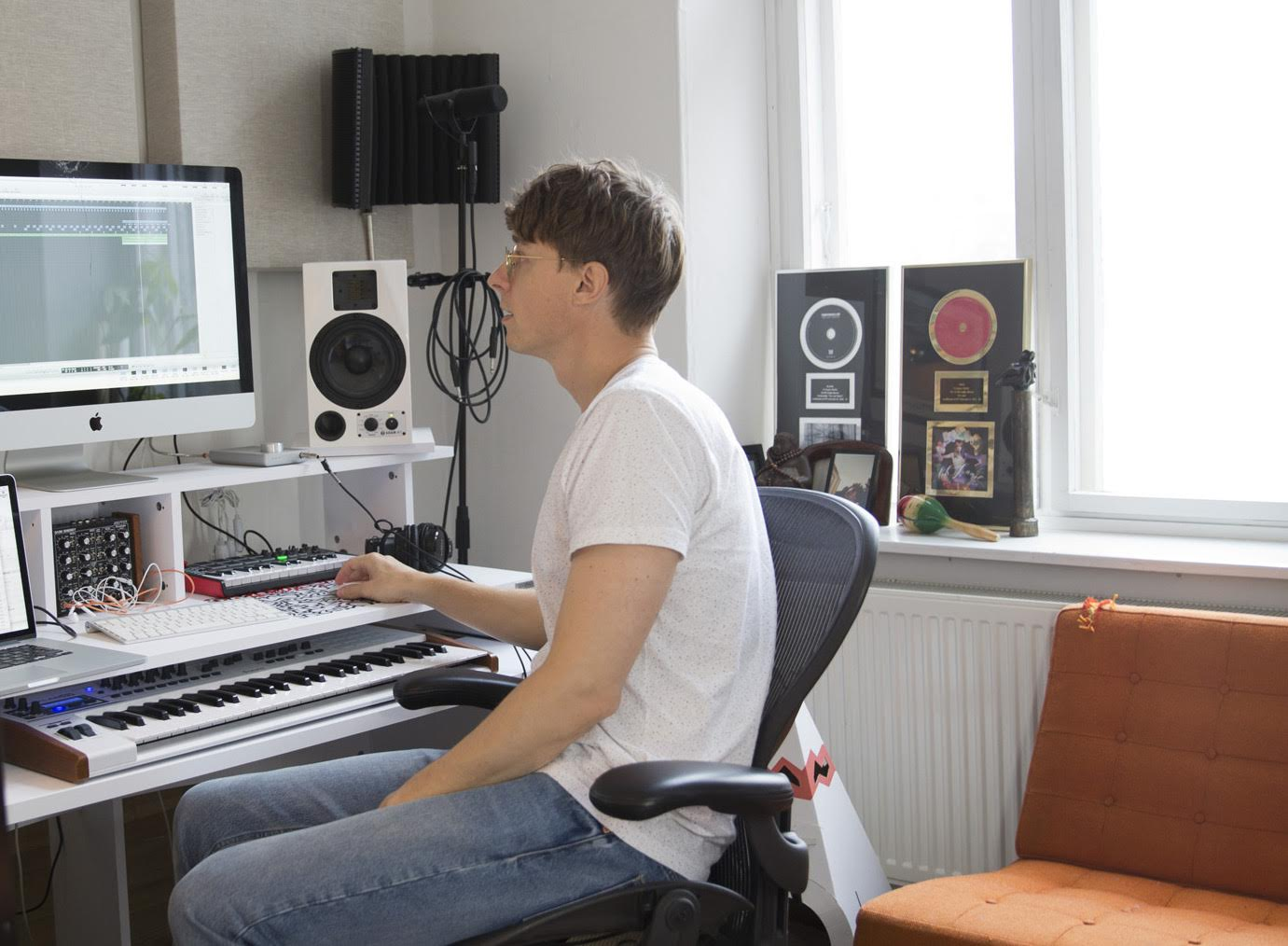 Kasper Bjorke in his home studio. How I live, The Spaces. Photography Anne Mie Dreves