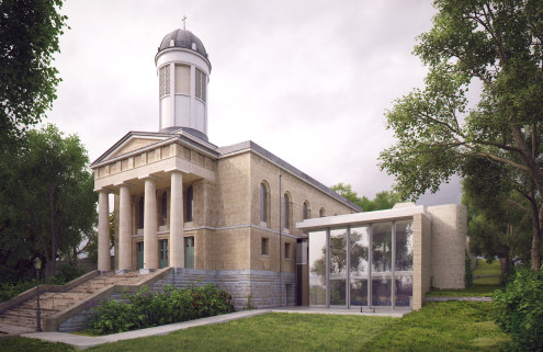 Bristol's church concert hall St George's is getting a minimalist addition