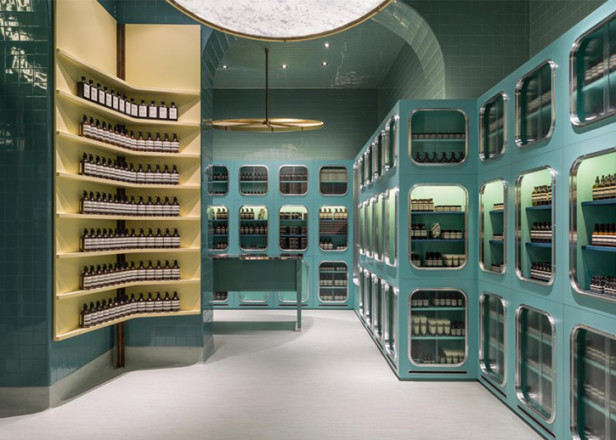 Dimore Studio Designs Pastel Hued Milan Store For Aesop