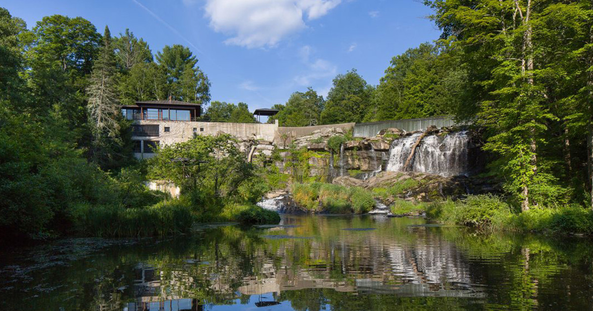 Property of the week a house built above a waterfall in for House built on waterfall