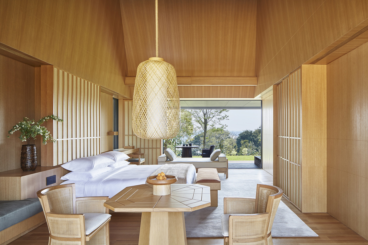 Amanemu is a contemporary take on traditional japanese hot for Spring hill designs bedroom furniture
