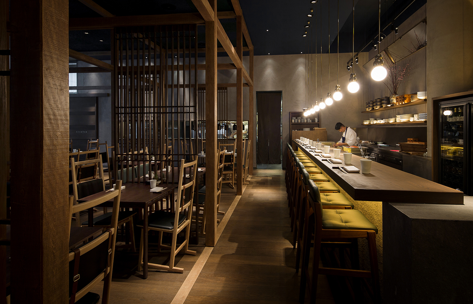 Neri hu design a japanese izakaya for jason atherton 39 s for Restaurant design london