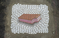 Chicago's potholes are being filled with tiny artworks