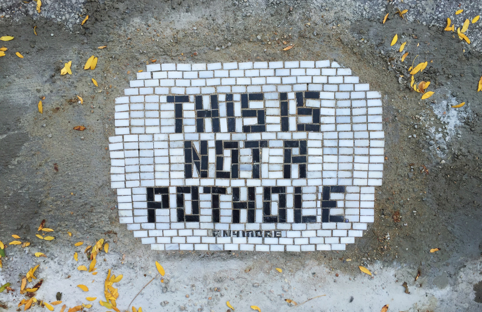 slogan---pothole-mosaic-by-Jim-Bachor