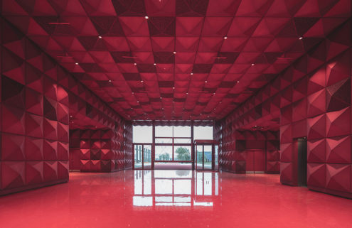 New pyramid-studded museum for rock music opens in Denmark's Roskilde