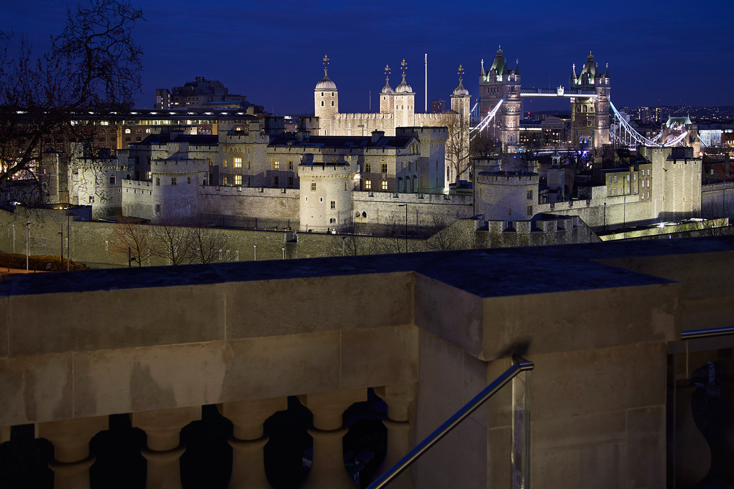 Views of the Tower of London and Tower Bridge