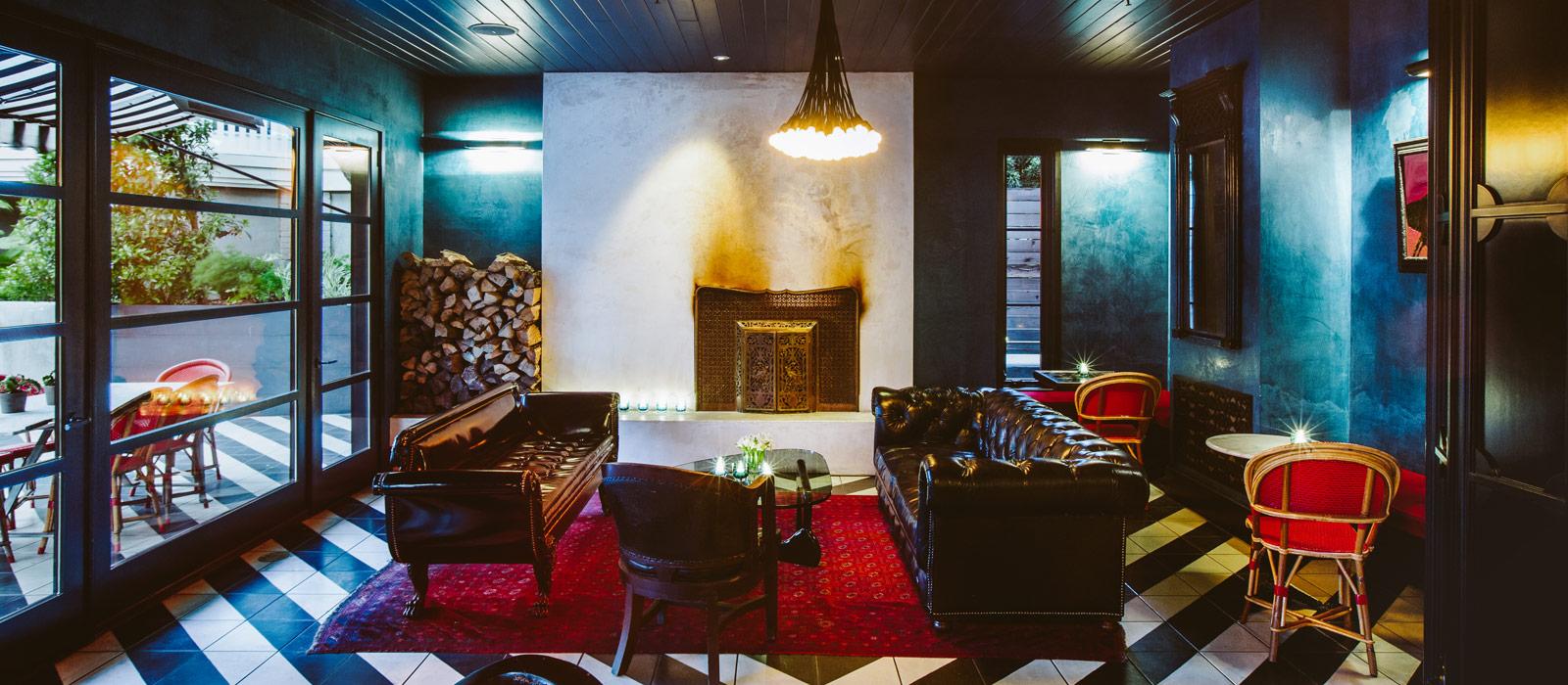 Hotel Saint Cecilia lounge area