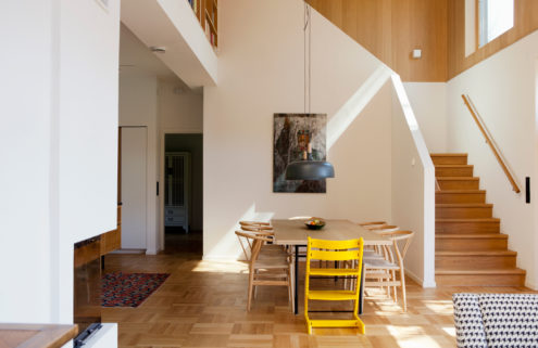 Property of the week: a timber-clad home with soaring ceilings in Sweden
