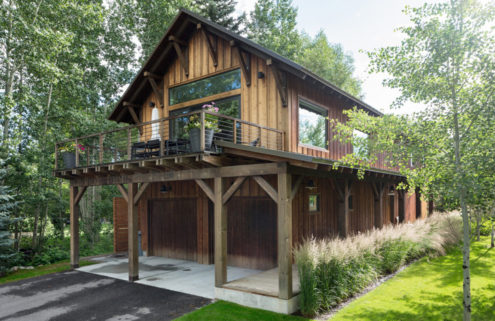 A modern mountain retreat hits the market for $1.3 million in Wyoming