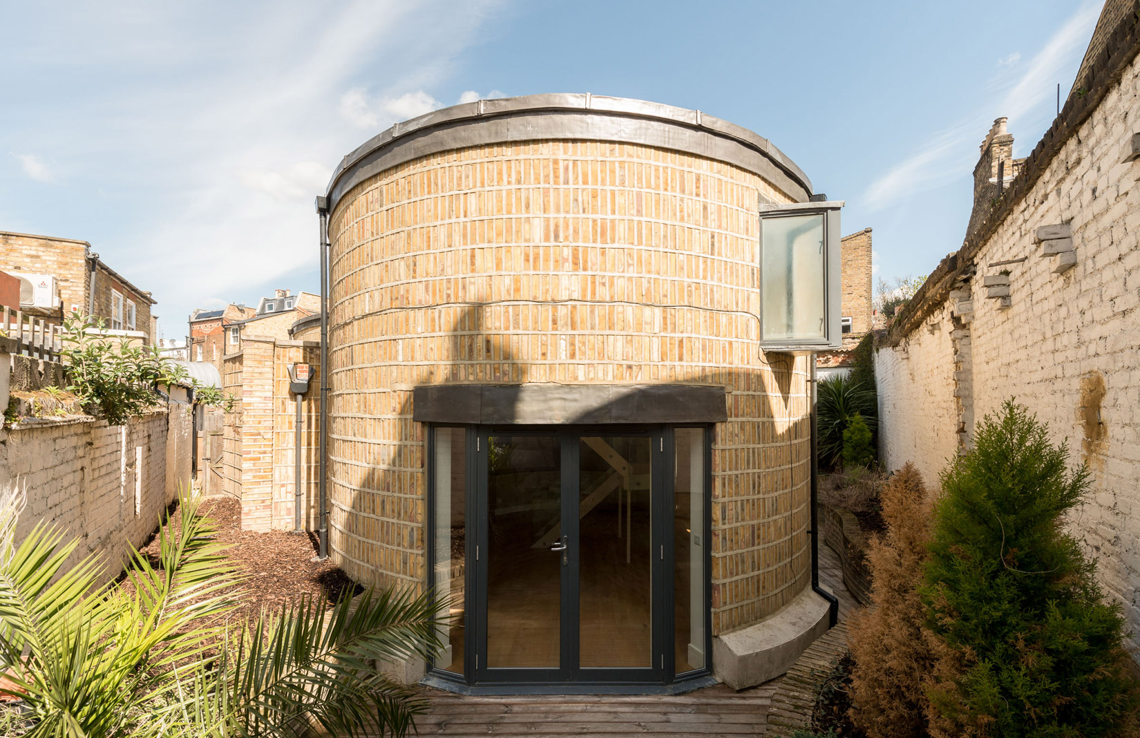Oval House Exterior Front On