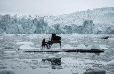 Watch pianist Ludovico Einaudi play in the Arctic ocean