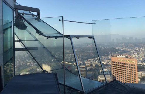 You can now go down a glass slide 1,000 ft up the West Coast's tallest building