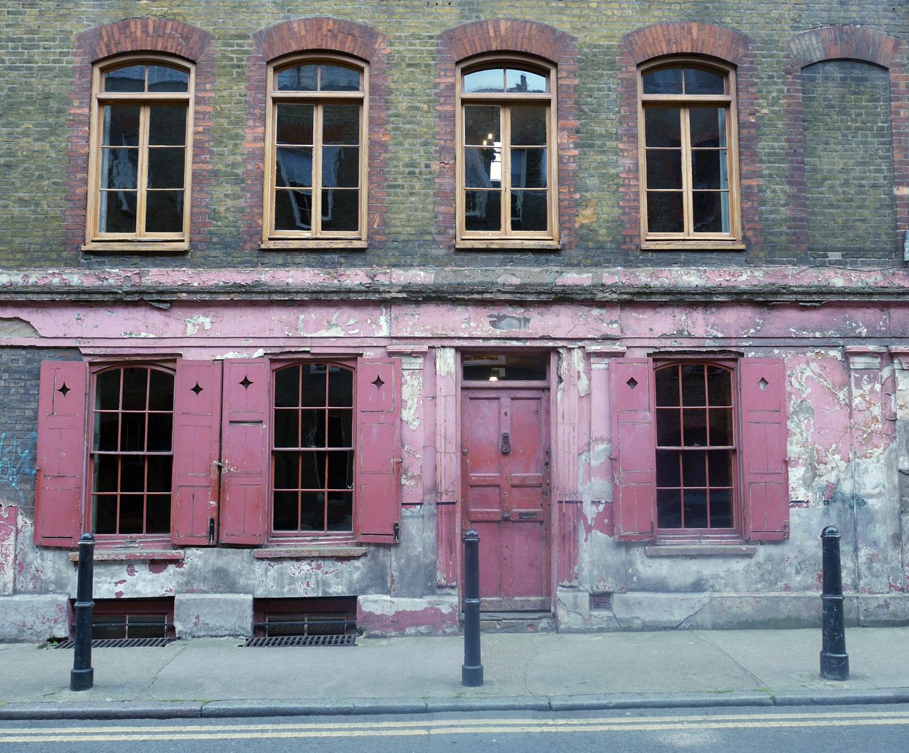 Historic building on Princelet Street, London.