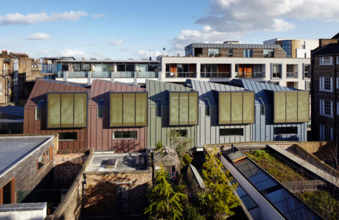 Edgley Design turns an industrial site into saw-toothed houses in London's Islington