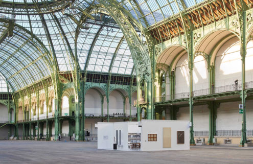 Artists Elmgreen & Dragset install a 'lonely' booth inside Paris' Grand Palais