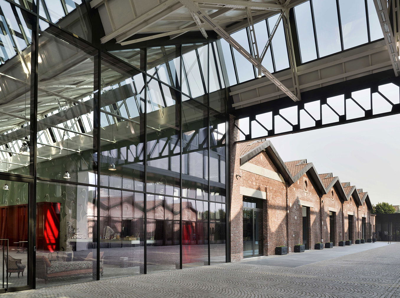 premium selection 40a6d 0ccaf Gucci reveals its new HQ in an old aeronautical factory in Milan