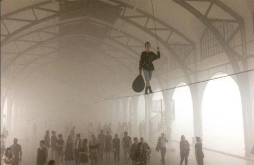 Artist Anne Imhof fills Berlin's Hamburger Bahnhof with fog