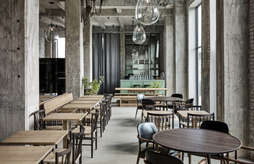 Rene Redzepi's new restaurant 108 is a raw industrial space designed by Space Copenhagen