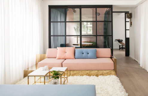 Lim + Lu's pastel-hued home doubles as their showroom in Hong Kong