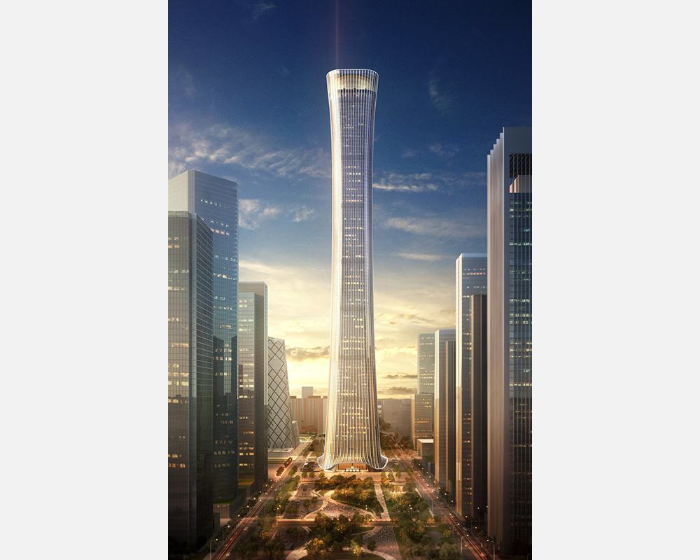 Tallest buildings topping out in 2017 – 'Zun' building china