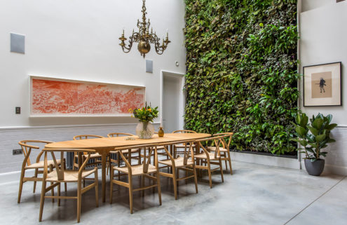 Rental of the week: a converted cooperage with a living wall in London