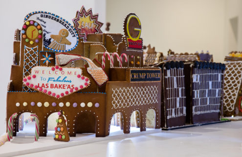London architects build a gingerbread city at the Museum of Architecture