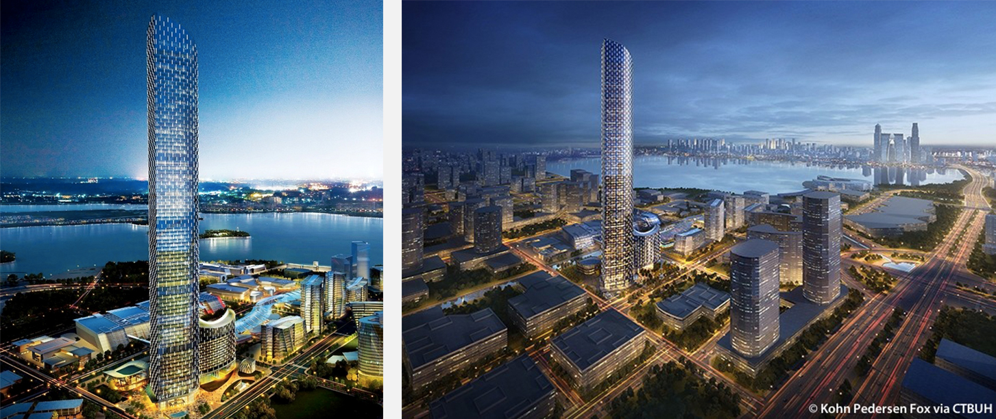 Tallest buildings topping out in 2017 – Suzhou IFS