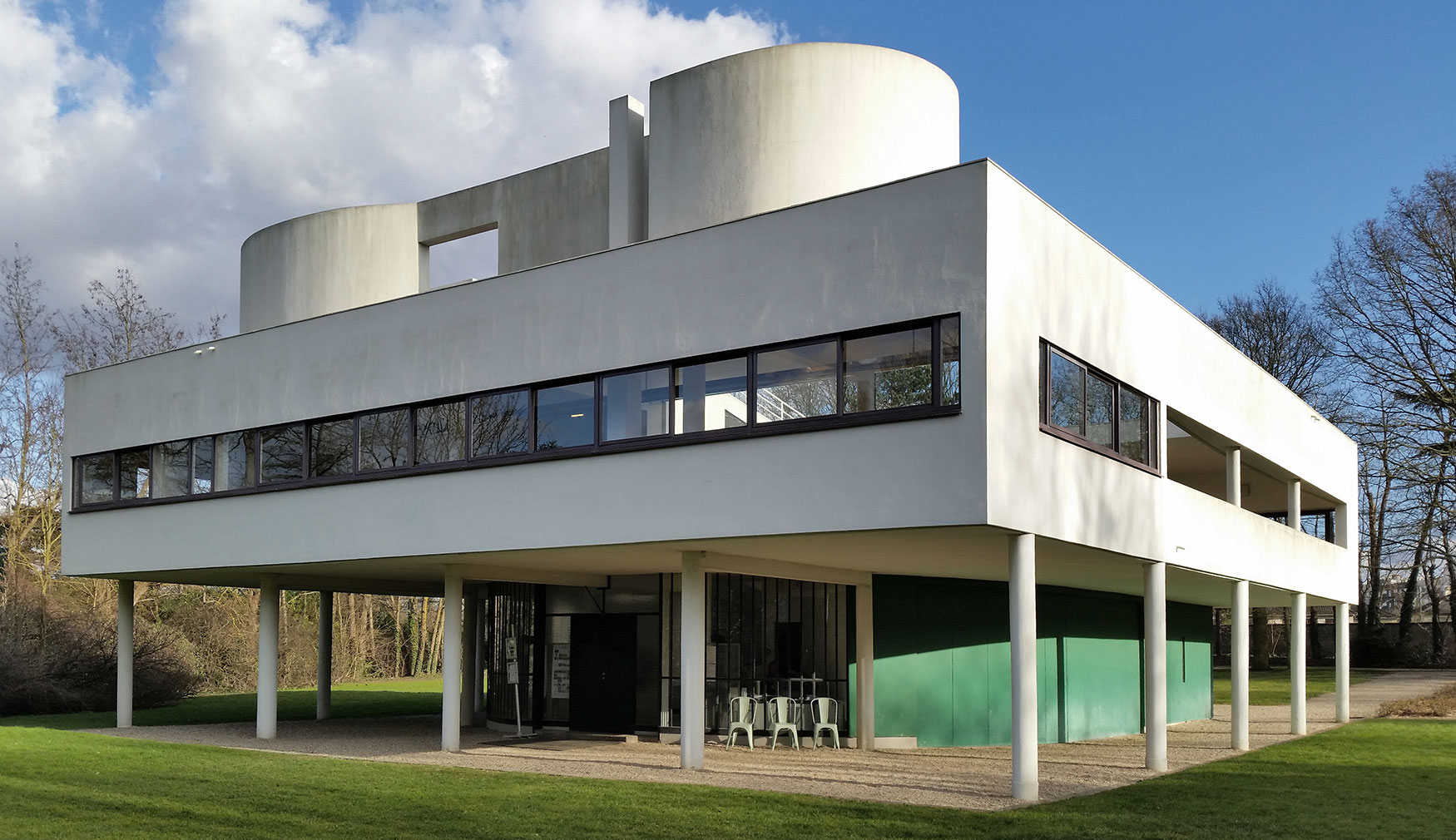 Villa Savoye designed by Le Corbusier