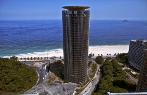 Oscar Niemeyer's abandoned Hotel Nacional reopens in Rio