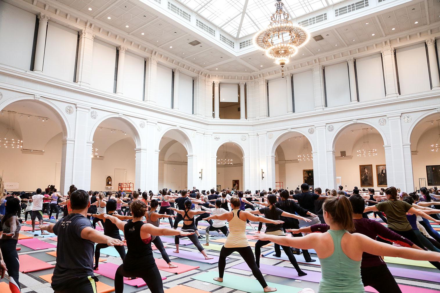 Yoga at Brooklyn Museum