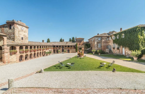 Siena's medieval Locanda dell'Amorosa Hotel is looking for a new owner