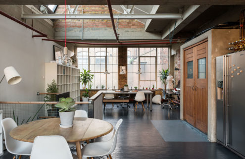 A home atop a London shoe factory lists for £900k