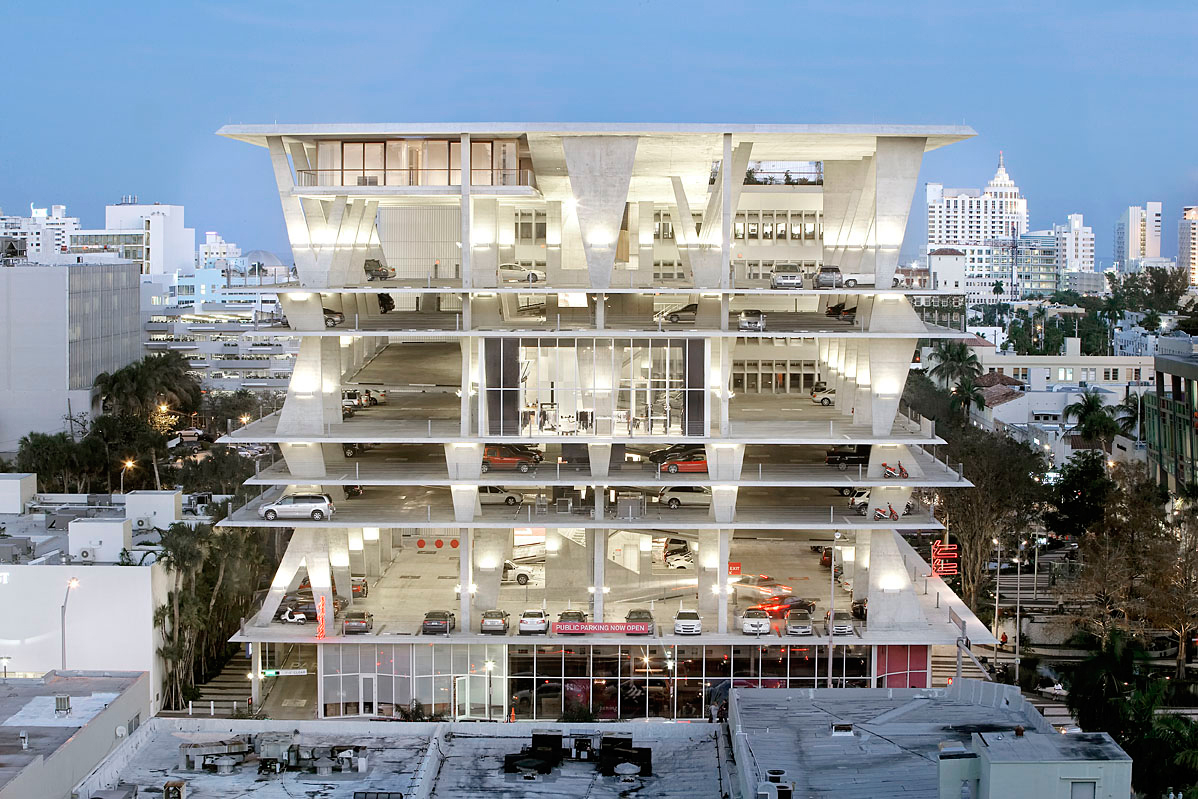 11 Lincoln Road car park which will host Luftwerk's spatial projection 'Becoming'