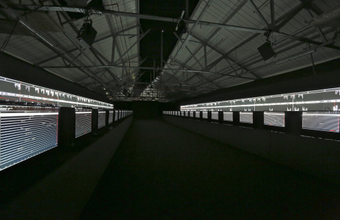 Ryoji Ikeda's Supersymmetry' at Brewer St Car Park