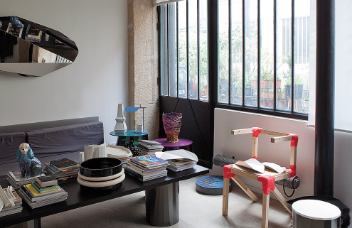 Inside Victoria Wilmotte's live/work space in Paris