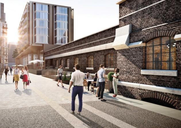Render of how Pennington Street warehouse will look after redevelopment