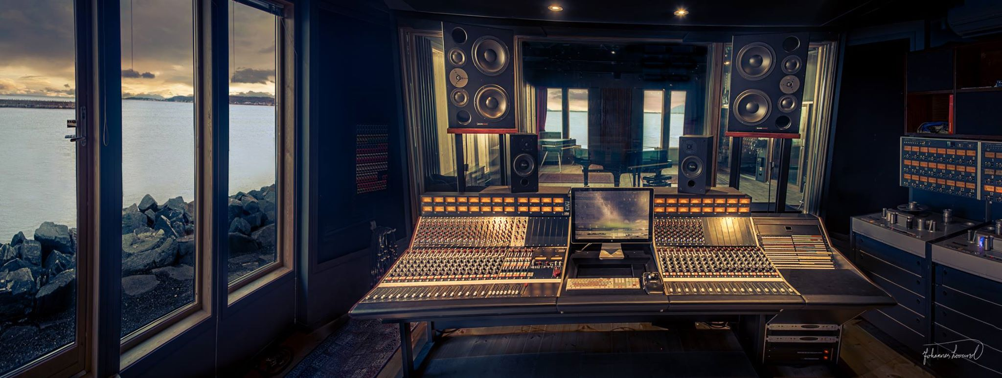 Ocean Sound Recording Studio - control desk. Image courtesy of OSR