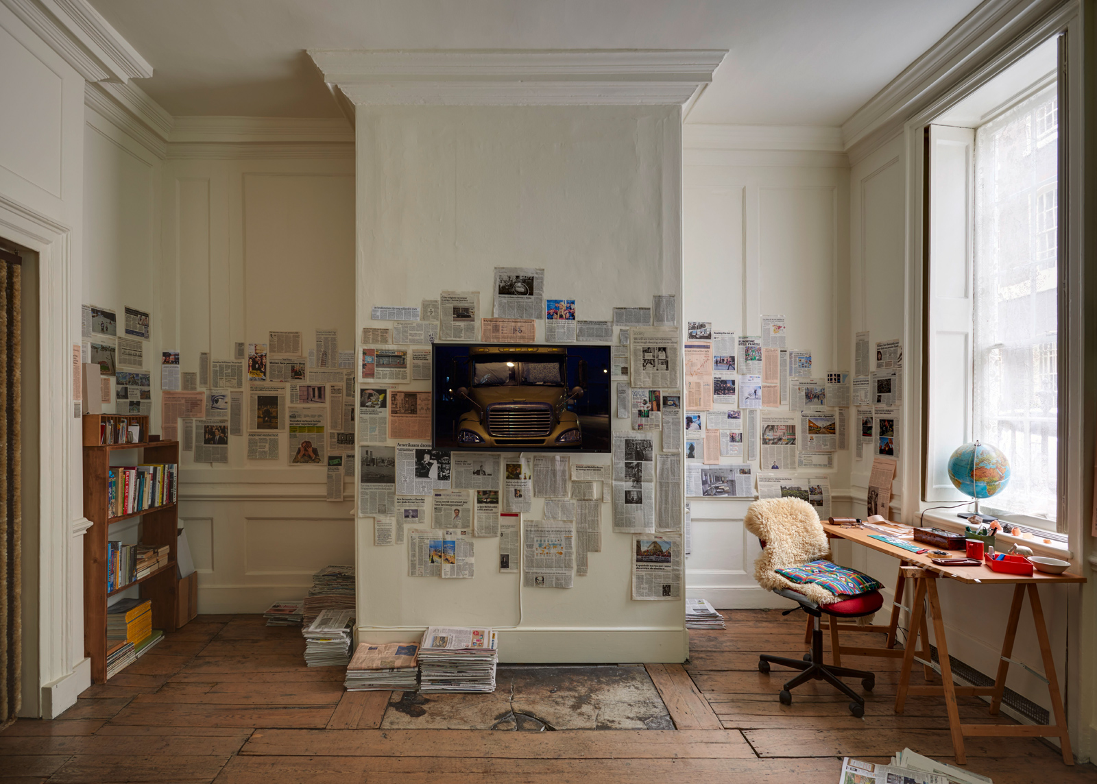 Fiona Tan, Ghost Dwellings, installation view. Courtesy the artist and Frith Street Gallery, London. Photographer: Alex Delfanne
