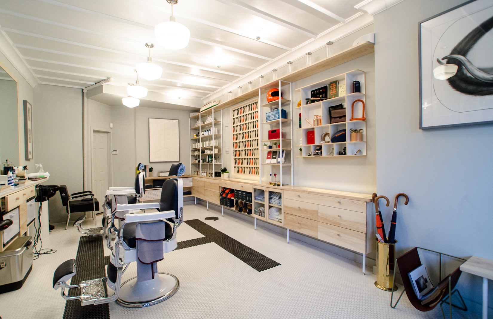 18 destinations giving the traditional barber shop and hair salon a
