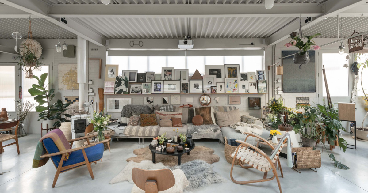 House of the week an islington factory of art by 6a architects - An artists home ...