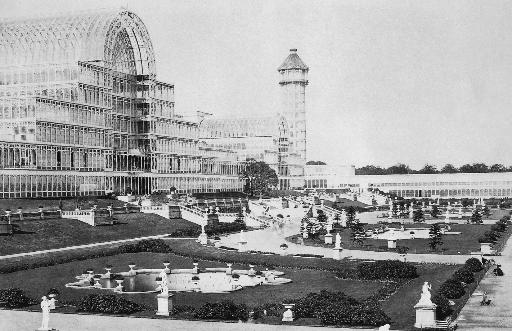 Sydenham Crystal Palace, circa 1851. Creative commons