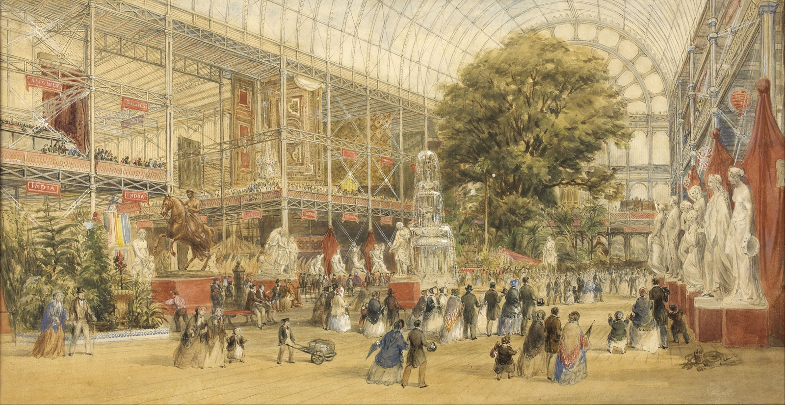 Queen Victoria opening the 1851 Universal Exhibition, at the Crystal Palace in London, by artist Thomas Abel Prior