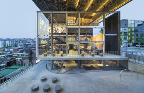 Vast vinyl library designed by architect Moongyu Choi opens in Seoul