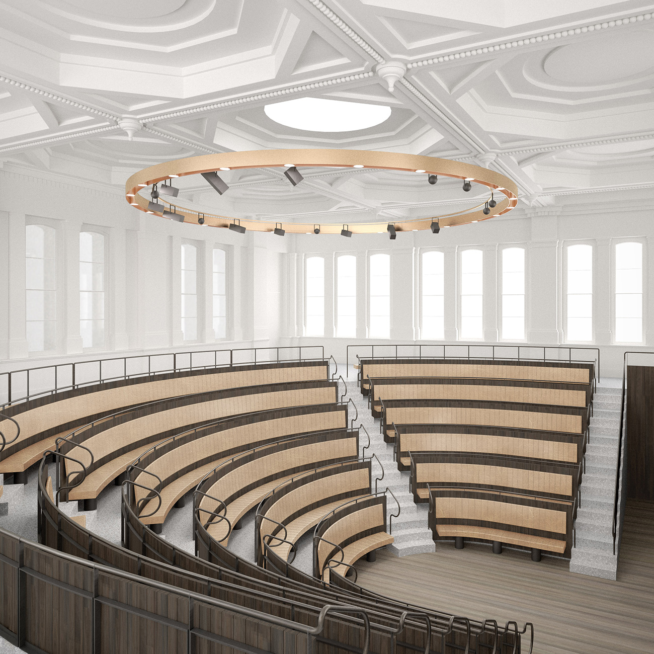 Planned lecture theatre at the Royal Academy of Arts